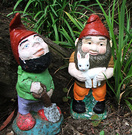 Two Painted Gnomes