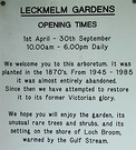 Leckmelm Garden Sign