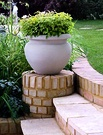 Curved Stone Garden Paving