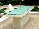 White Marble Garden Table