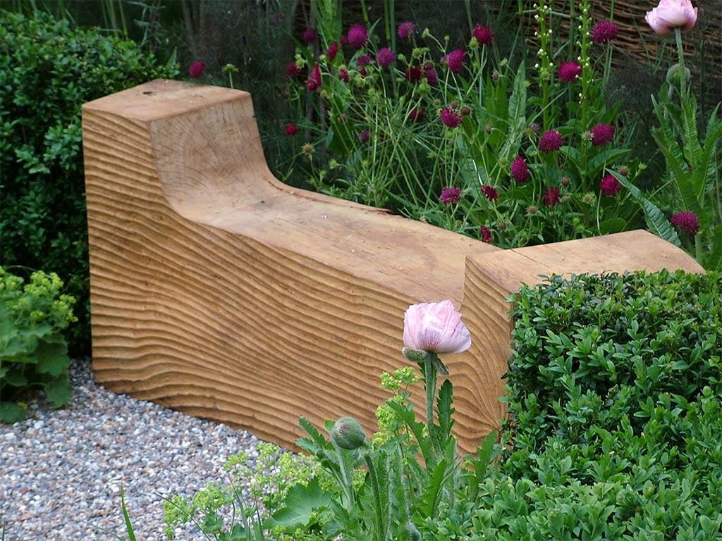 Garden benches seats for Gartengestaltung mit holz