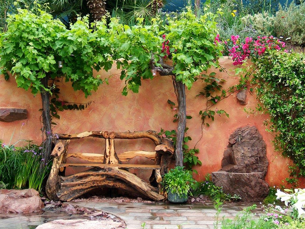 Garden benches seats for Decoracion de jardines pequenos rusticos