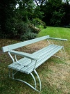 Blue Grey Garden Bench