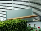 Glass Wood Garden Bench