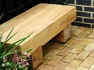 Square Wood Bench