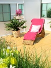 Wicker Garden Lounger