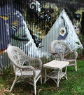 Mural Wicker Seats
