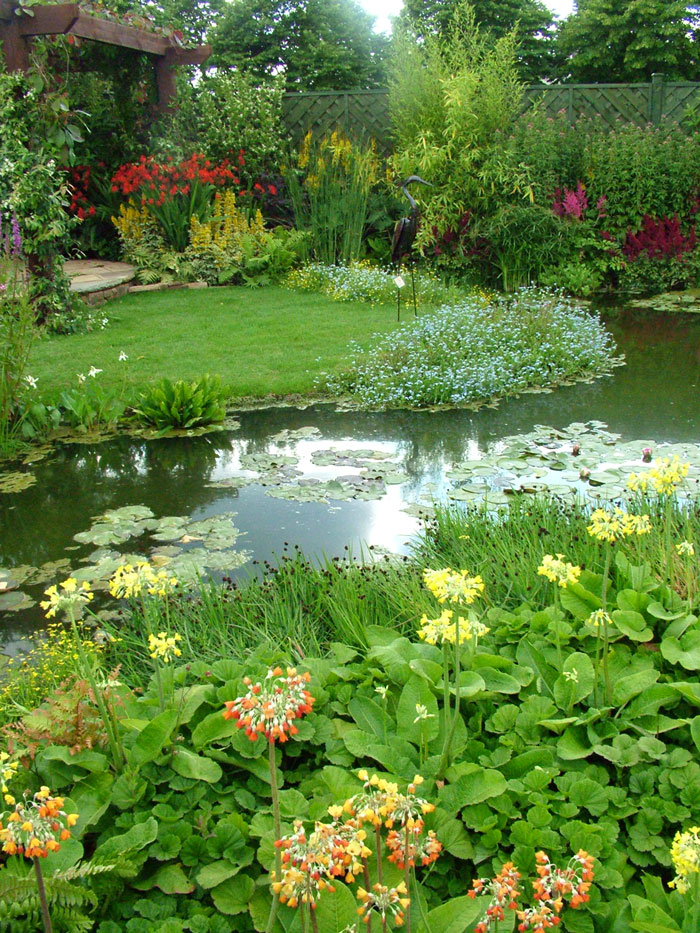 Agua en el jardin on pinterest water features ponds and for Pond and garden