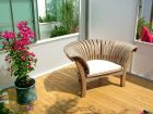 Curved Wooden Garden Chair