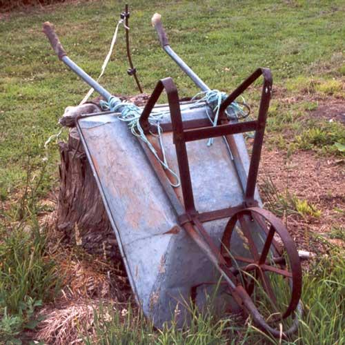 Тележка садовая с одним колесом своими руками