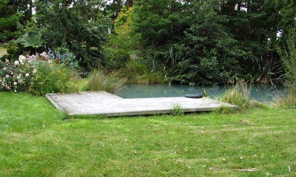 Water garden pond for Garden decking with pond