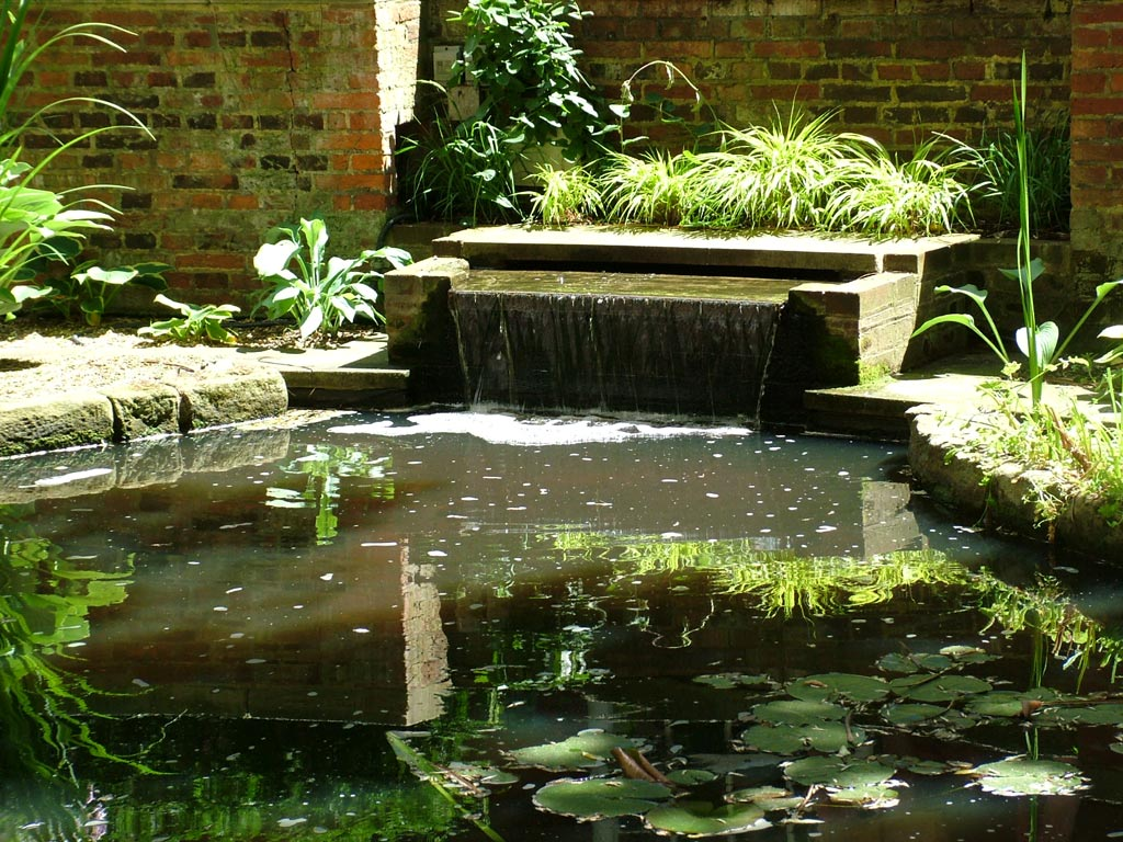 British medical association garden for Pond water features waterfalls