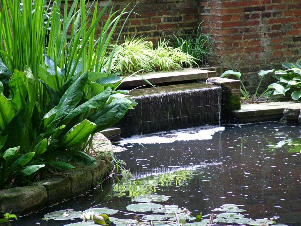 British medical association garden for Waterfall features for ponds