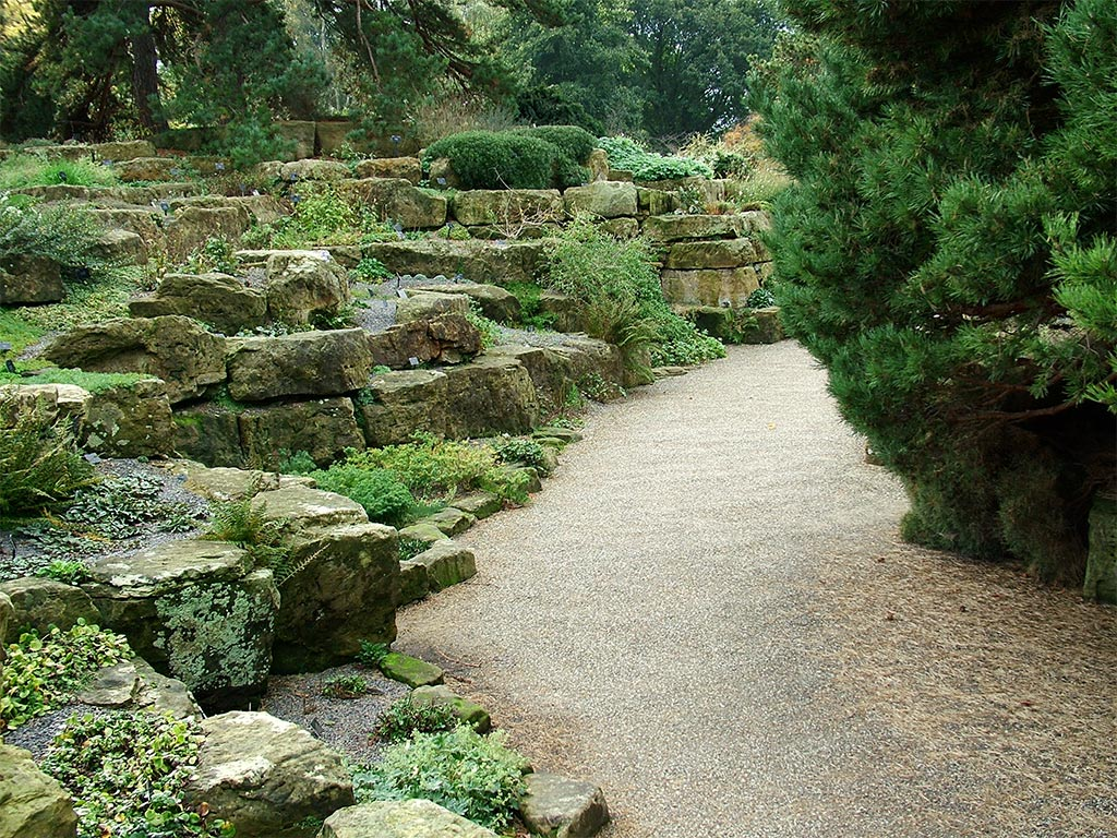 rock garden path gardens pinterest
