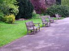 Curved Wood Garden Benches